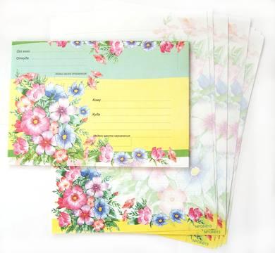 Набор для письма «Цветы»