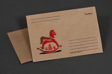 Крафт-конверт «Деревянная лошадка»
